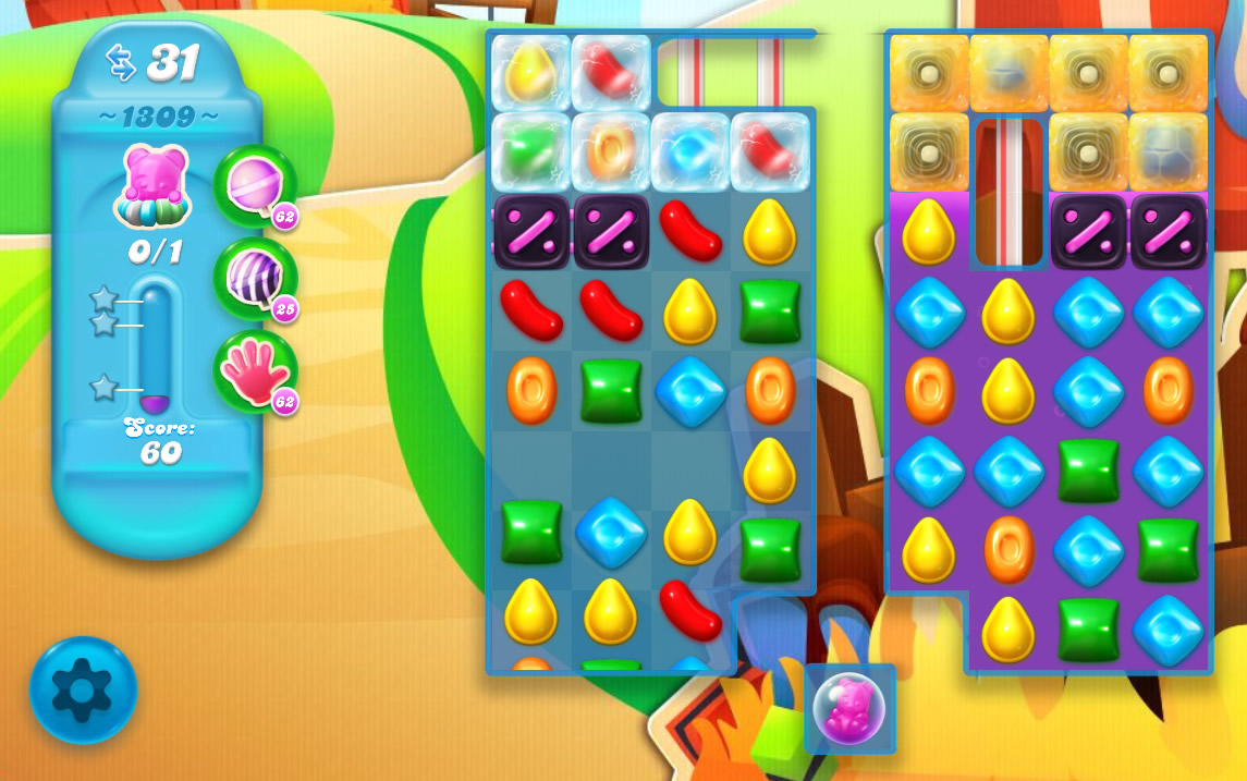 Candy Crush Soda Saga level 1309