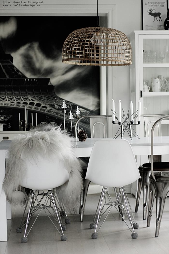 annelies design, webbutik, webbutiker, webshop, nätbutik, nätbutiker, nettbutikk, nettbutikker, gran, granar, jul, julpynt, advent, 2016, matsal, kök, köket, ljusstake, fototapet, eiffeltornet, vitt, svart och vitt, svartvit, svartvita,