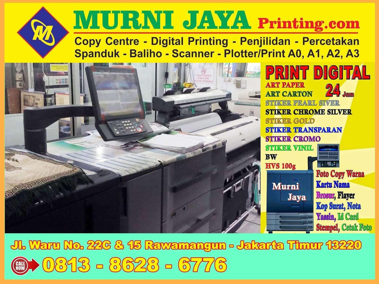 jasa percetakan murah percetakan jakarta jasa digital printing murah 24 jam di rawamangun ...