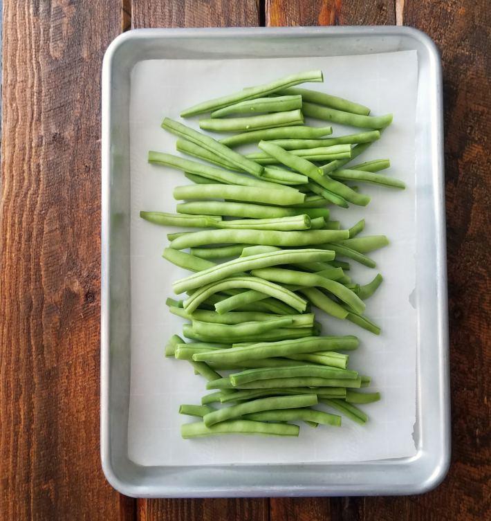 Vainitas (judías verdes) frescas