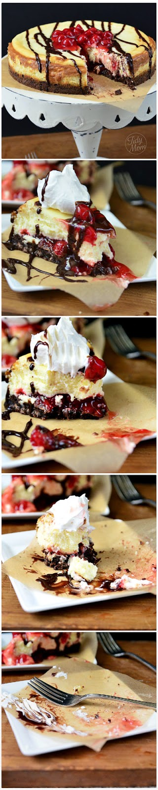 http://tidymom.net/2012/brownie-cherry-cheesecake/