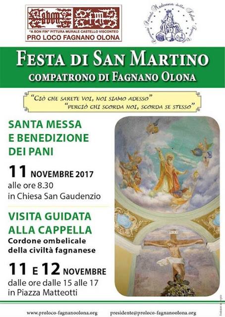 Locandina della festa di san Martino a Fagnano Olona