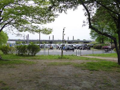 深北緑地公園 第1駐車場 バイク置場