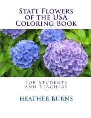 state flowers coloring book