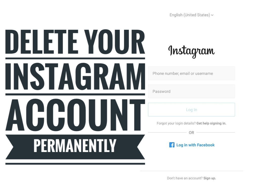 How to delete an instagram account ccuart