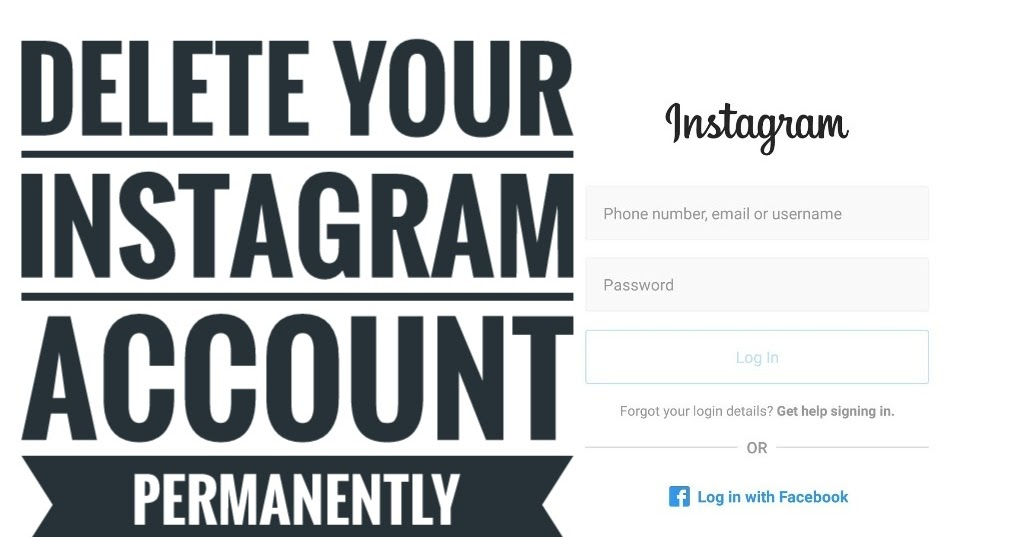 How to delete an instagram account ccuart Images