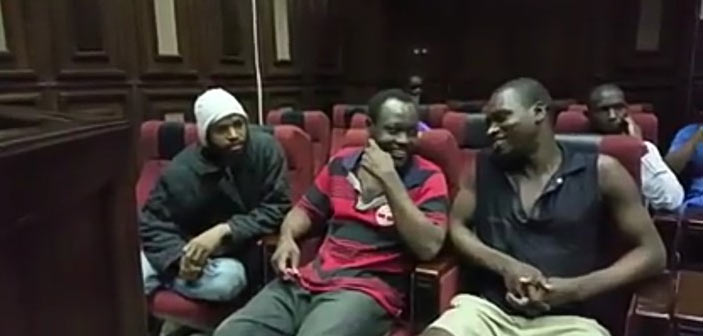 Boko Haram commanders happy and laughing as they are arraigned in court