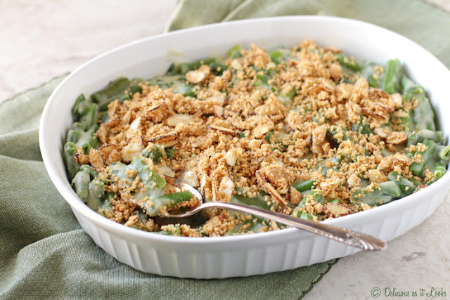 Low-FODMAP Green Bean Casserole  /  Delicious as it Looks