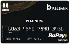 Udio Rupay Platinum Card Now Available in Udio App