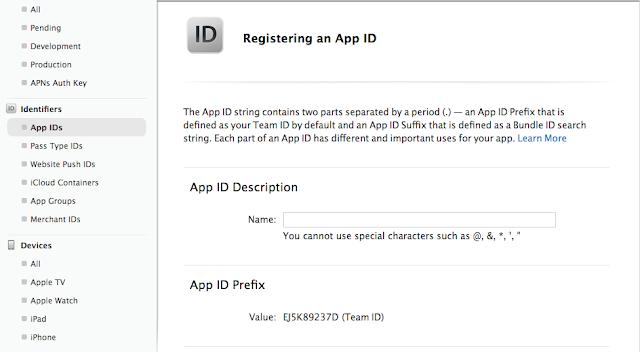 Enter App ID name in teh field App ID Description