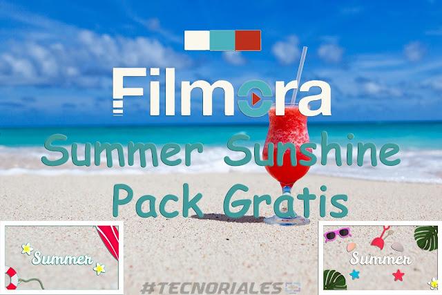 Logo de filmora summer sunshine y un coctel