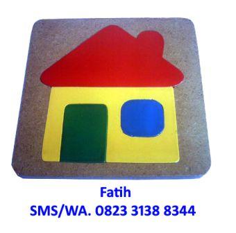 Mainan Edukasi Kayu Puzzle Rumah