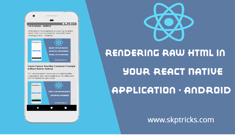 Rendering Raw HTML in your React Native application