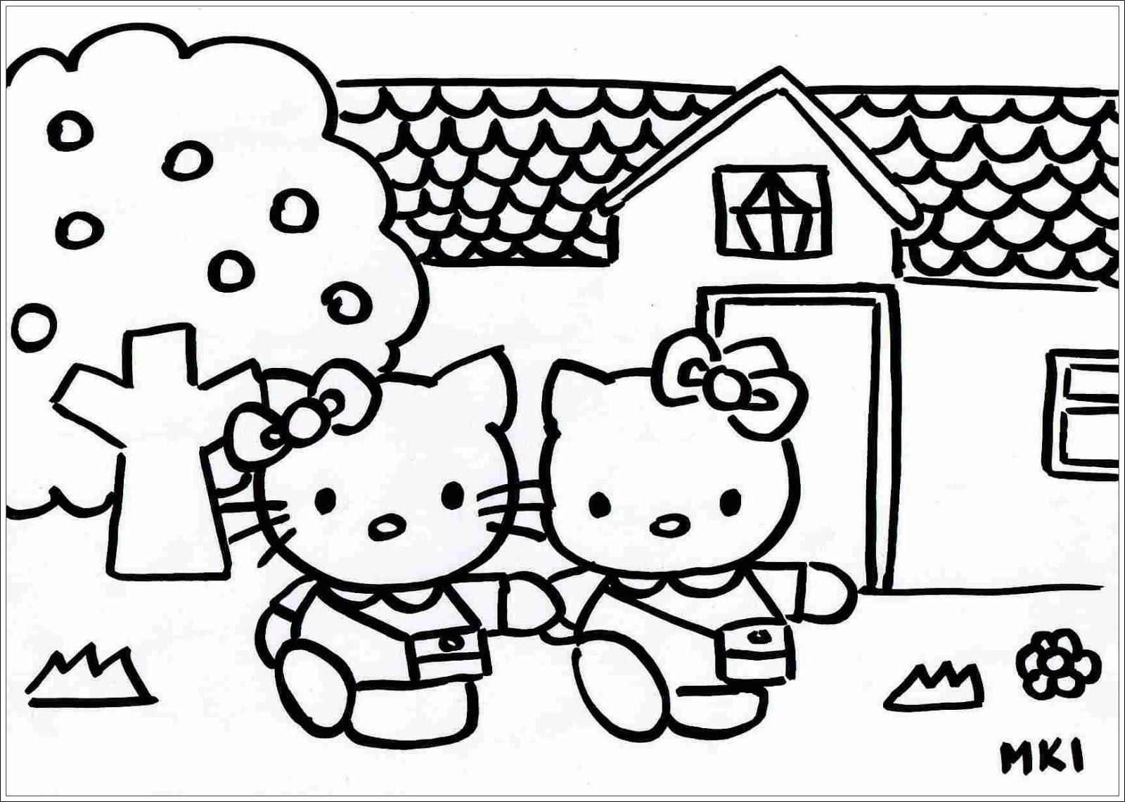 ausmalbilder zum ausdrucken: ausmalbilder von hello kitty