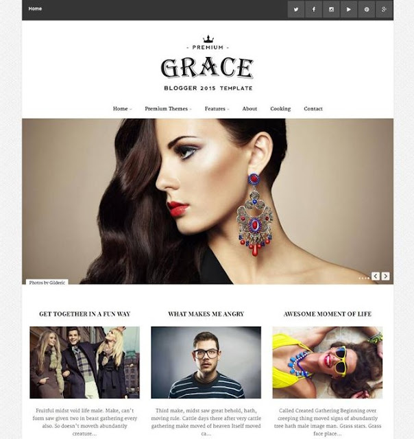 Grace Responsive Photography Blogger Template