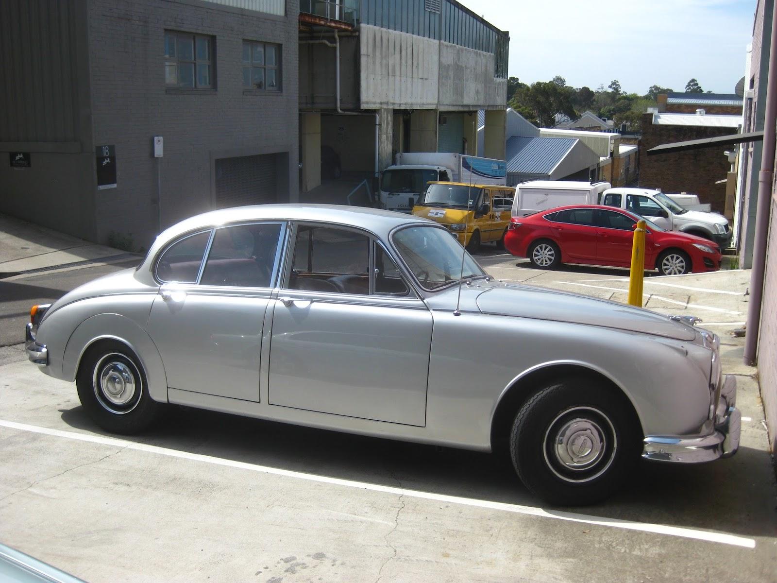 Aussie Old Parked Cars: 1963 Jaguar Mark 2 3.8 Litre O/D