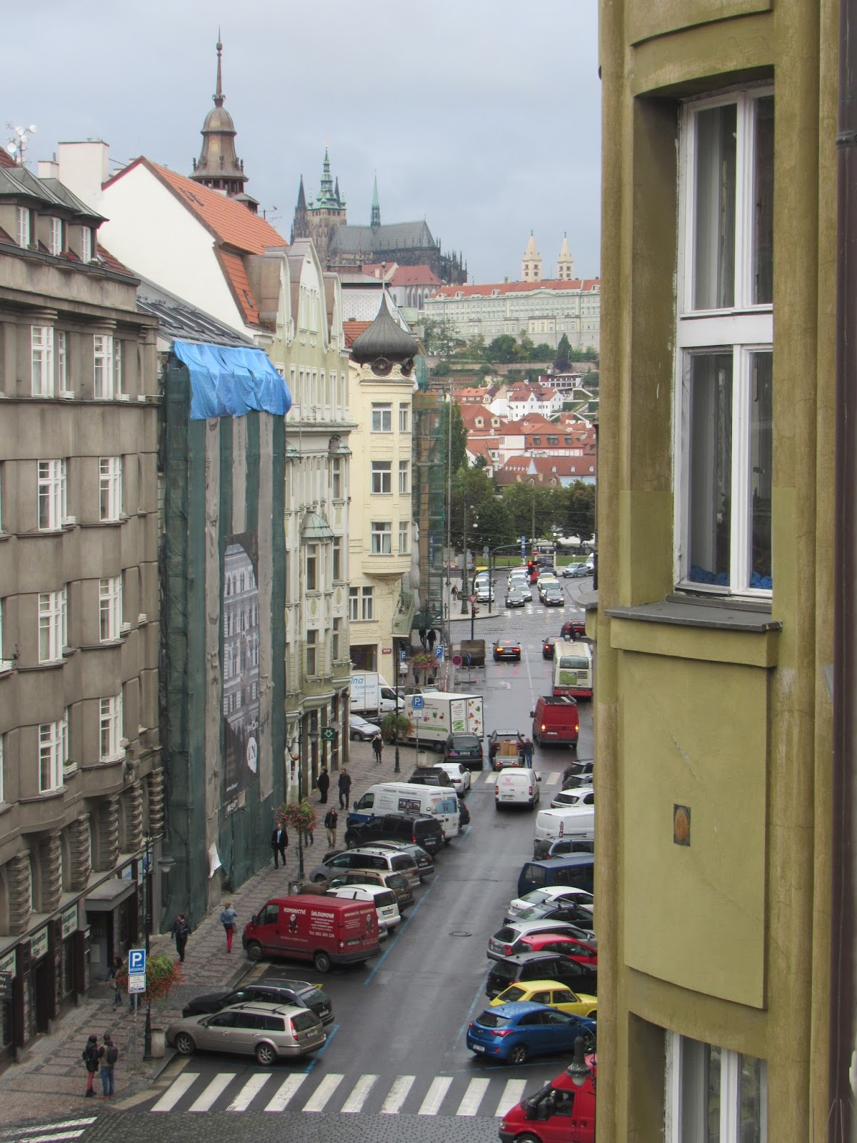 Vista do Hostel Franz Kafka, hospedagem econômica no centro de Praga