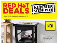 Kitchen Stuff Plus Flyer Red Hot Deals September 18 - 24, 2017