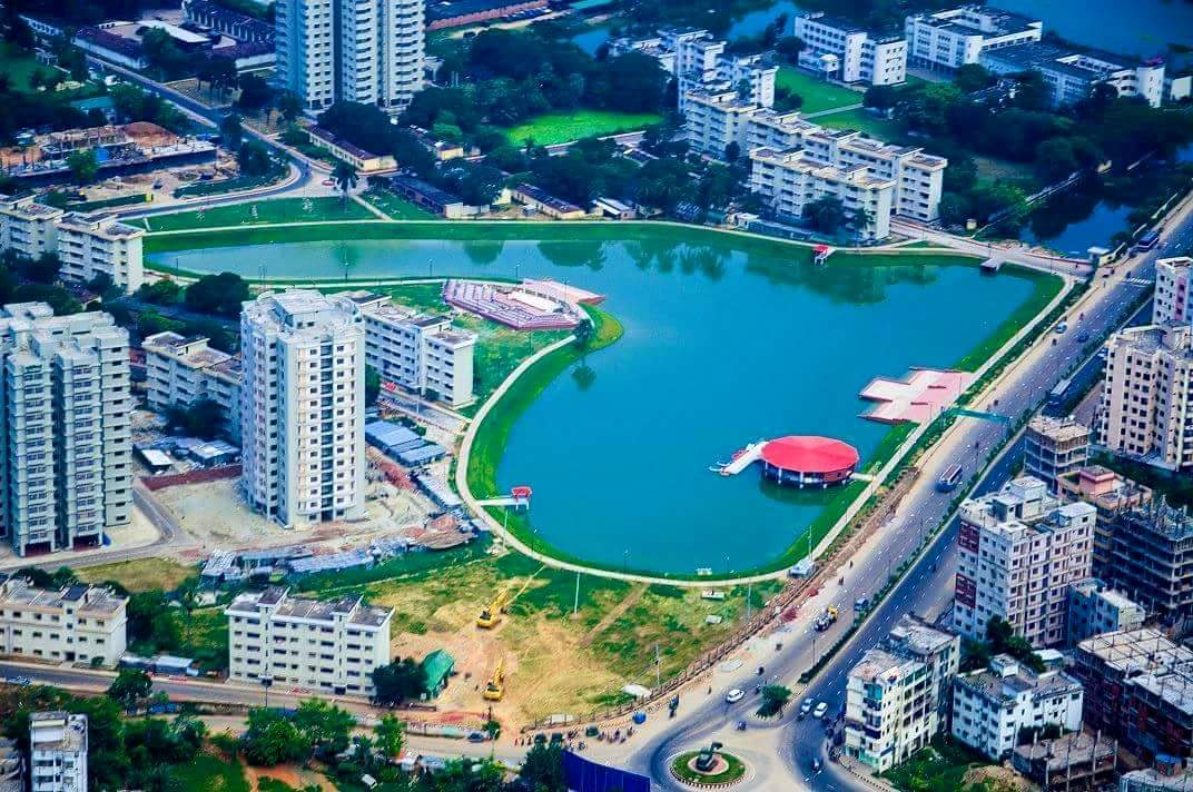 Birds Eye Aerial View Of Bangladesh