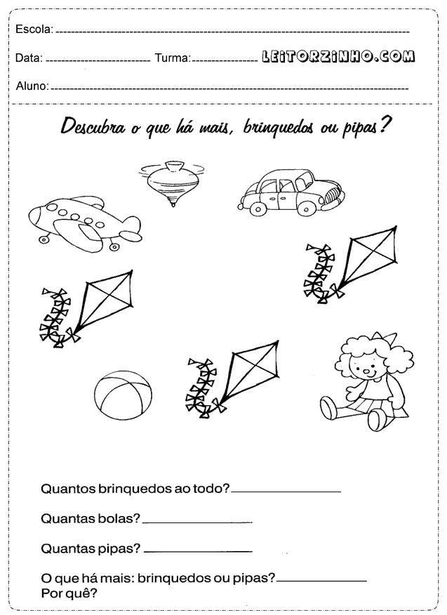 Atividades De Matematica 1 Ano Do Ensino Fundamental Para Imprimir So Escola