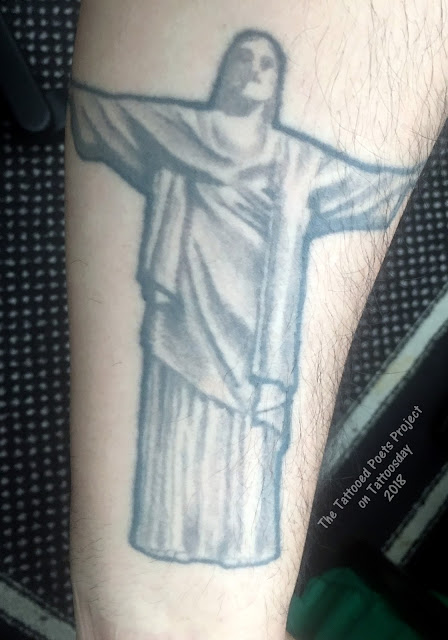 christ FKA René and Christ the Redeemer (The Tattooed Poets Project) tattoo