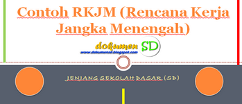 Download Contoh RKJM (Rencana Kerja Jangka Menengah) jenjang Sekolah Dasar (SD)