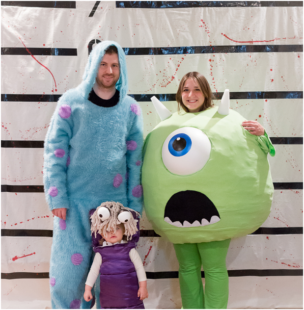 Mike, Sully, and Boo from Monsters, Inc.