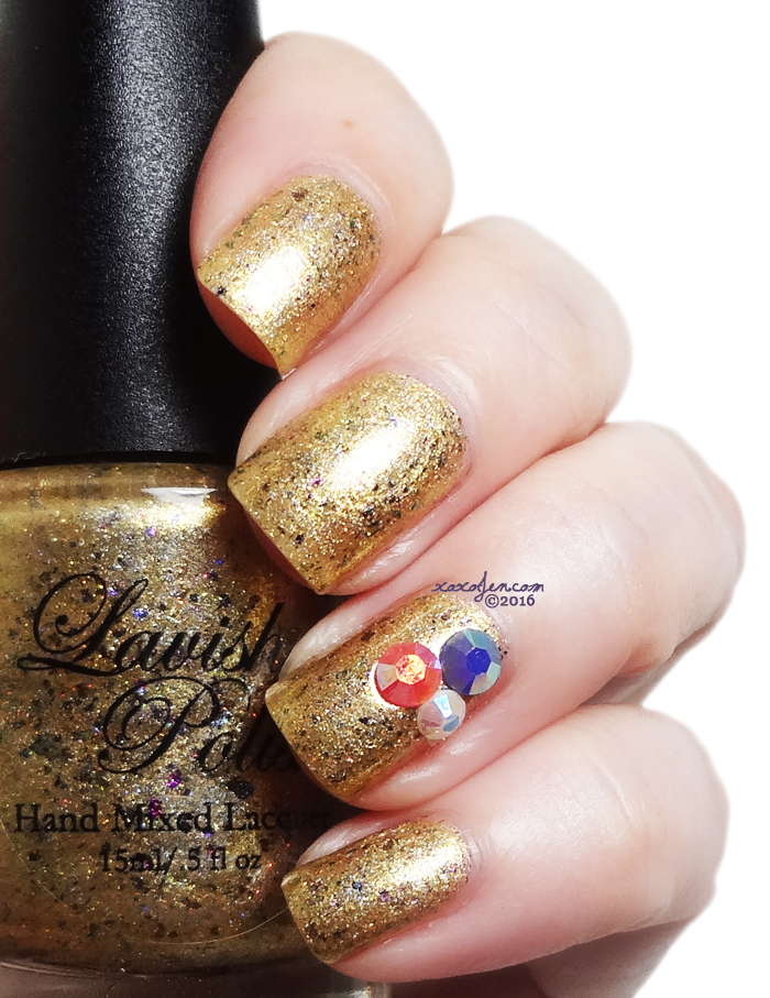 xoxoJen's swatch of Lavish Polish Golden Mermaid