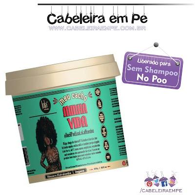 Composição da Máscara Meu Cacho Minha Vida - Lola Cosmetics - Liberada para No Poo, Low Poo, Shampoo Leve e Sem Shampoo com óleo de patauá e extratos de algas marinhas e Sodium PCA.
