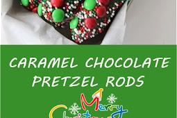 CARAMEL CHOCOLATE PRETZEL RODS