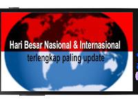 Hari Besar Nasional dan Internasional terlengkap paling update