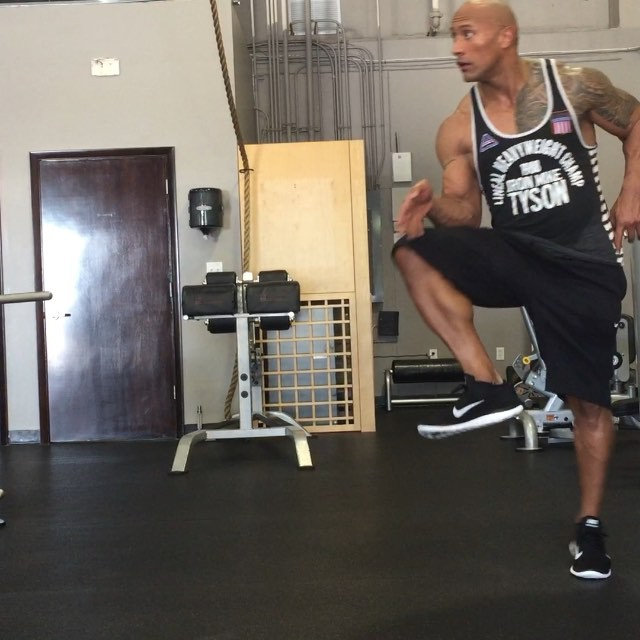 "Dwayne ""The Rock"" Johnson Steppin' into the weekend like.."