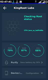 kingrootroot showing status