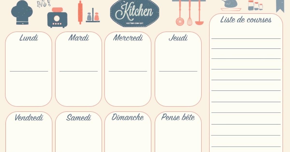 la vie ordinaire d 39 une bretonne free printable menu imprimer. Black Bedroom Furniture Sets. Home Design Ideas