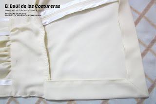 Confección chaqueta kaftán Aris Agoriuq de El Tiempo entre Costuras esquinas tipo sobre del dobladillo
