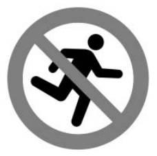 뛰지 마십시오