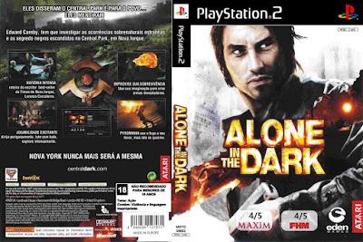 Jogo Alone in The Dark PS2 PT-BR Dublado DVD Capa