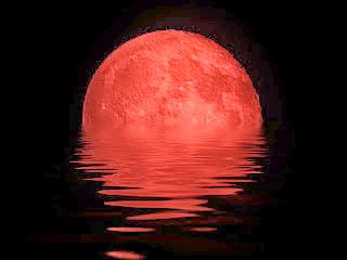 Foto da lua vermelha