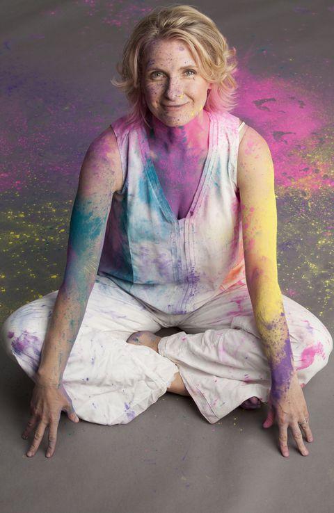 Elizabeth Gilbert Celebrating Holi Festival