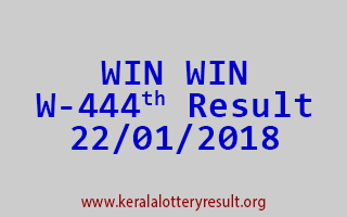 WIN WIN Lottery W 444 Results 22-01-2018