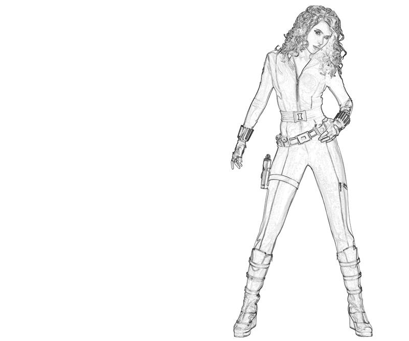 Black Widow Coloring Page Avengers | Coloring Pages