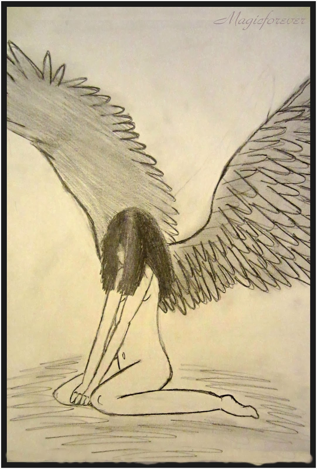 anjel,krídla, smrť, smútok, sad,girl