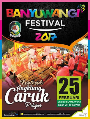 Festival Angklung Caruk Banyuwangi 2017.