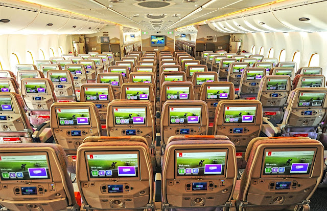 A380 Emirates Inflight Entertainment System Economy Class