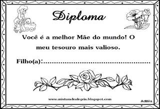 Diploma para a mamãe
