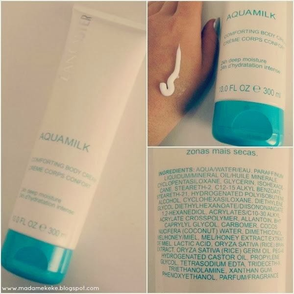 lancaster aquamilk comforting body creme review