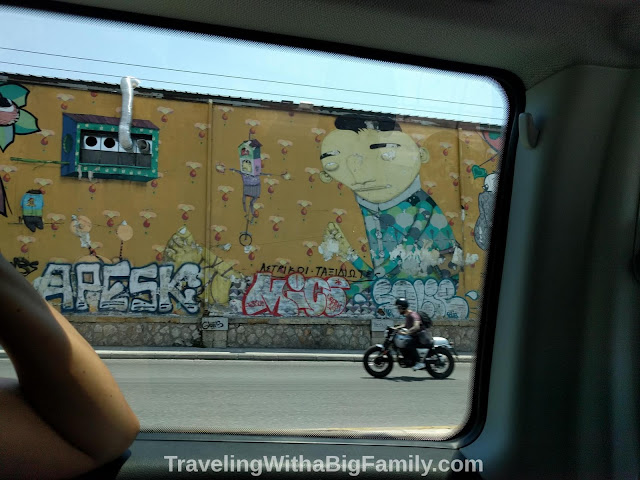 Traveling with a big family with small children in Athens, Greece
