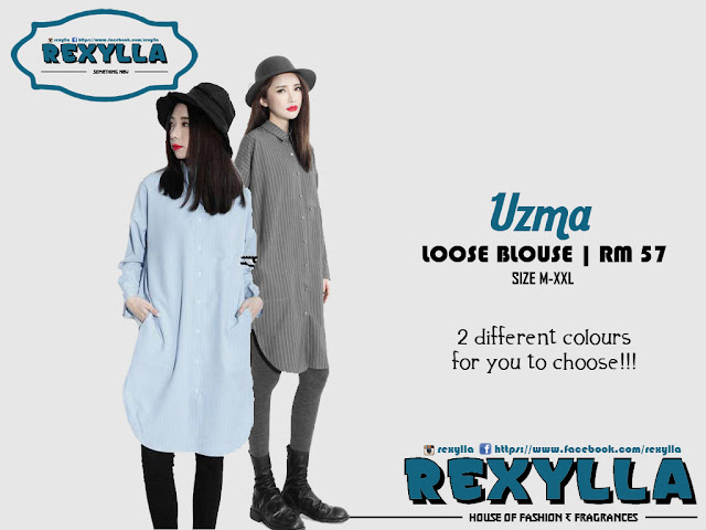 rexylla, loose blouse, button blouse, uzma collection