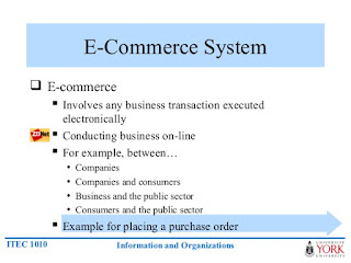 information system e commerce