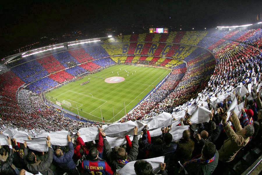 Estádio Camp Nou em Barcelona  8e85f6cee18f0
